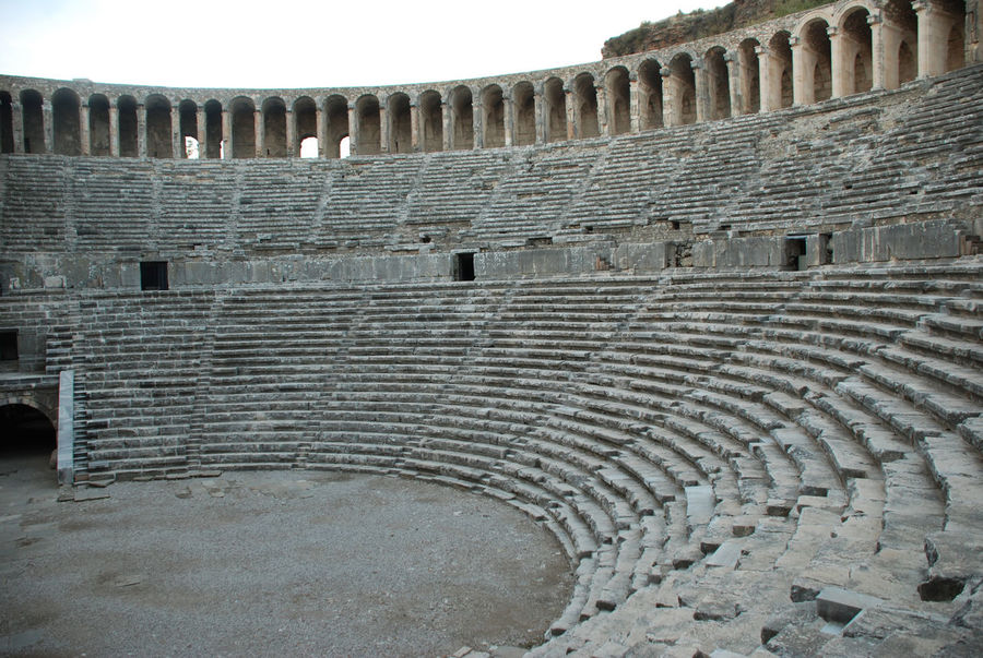 Aspendos theatre 2.c AD Ancient Ancient Civilization Ancient History Ancient Theatre Antalya Archaeology Architecture Aspendos  Day History No People Old Ruin Outdoors Roman Ruins Roman Theatre Sky The Past Theatre Tourism Travel Travel Destinations Turkey