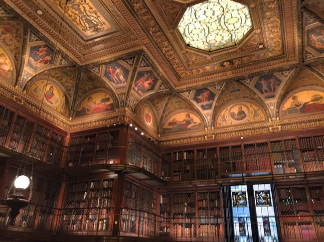 Gilded Age Library Architecture Indoors  Low Angle View Built Structure Illuminated Travel Destinations No People