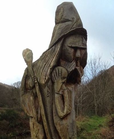 Wizard Wood Art Wood Carving Trees