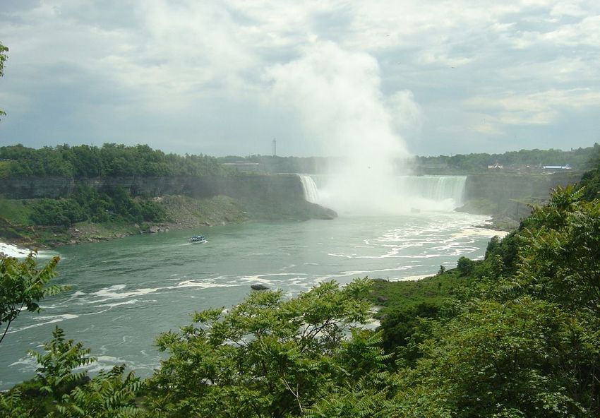 Beauty In Nature Landscape Nature Cloud - Sky Travel Water Outdoors Power In Nature Scenics Natural Phenomenon Sky No People Niagra Falls Niagara Falls Niagara Falls NY Natural Landmark Waterfall Physical Geography Flowing Water Rapid Cliff Rock Formation Flowing Natural Arch Rock - Object