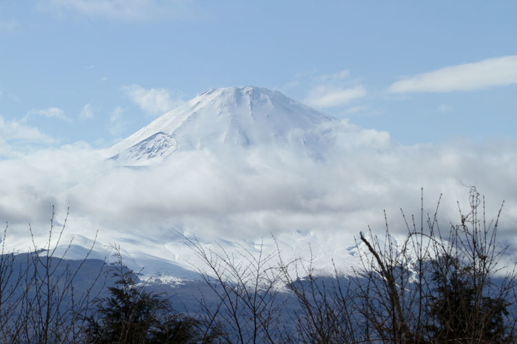 Hiking up in Hakone so as to have a glimpse of this stunning Mount Fuji view. Cloud - Sky Japan Majestic Mount FuJi Mountain Nature No People Outdoors Snowcapped Mountain Tranquil Scene White Winter 富士山
