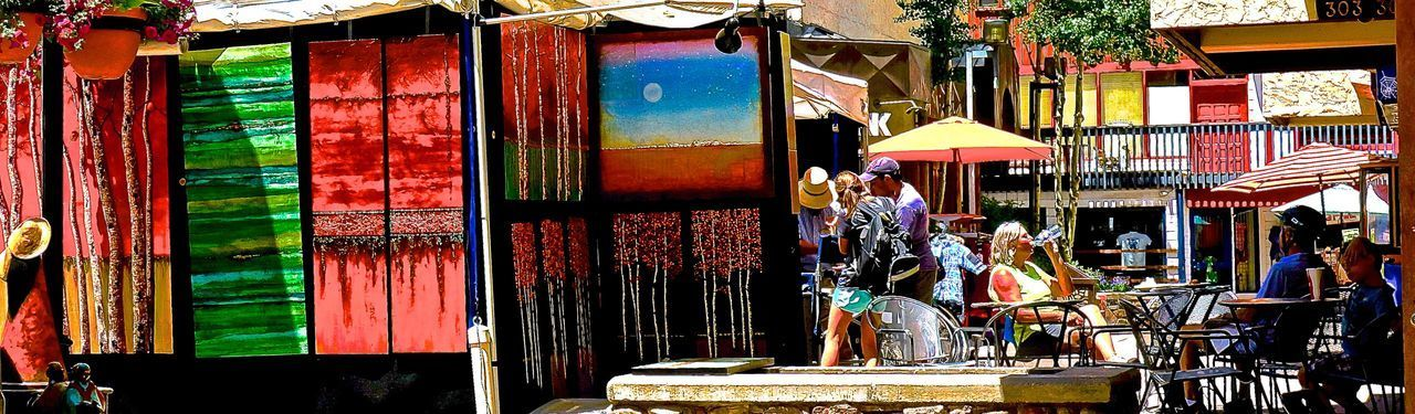 Architecture Awning Building Exterior Day Food Large Group Of People Market Market Stall Men Multi Colored Outdoors People Real People Retail  The Street Photographer - 2017 EyeEm Awards Vail  Vail Colorado Vail,co Vailsummer Women