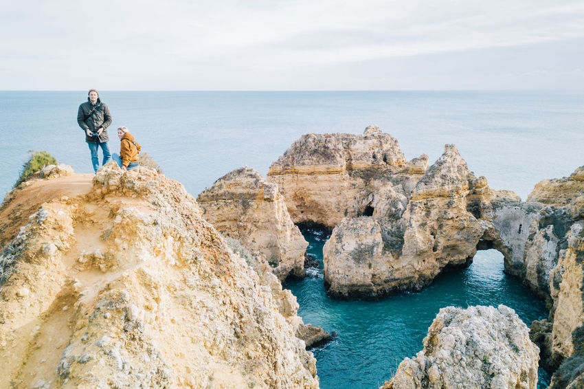Algarve Atlantic Atlantic Ocean Coastline Drone  Lagos Ponta Da Piedade Tourist Attraction  Adult Aerial View Algarve, Portugal Beach Beauty In Nature Blue Water Cliff Coast Day Dji Horizon Over Water Men Nature One Person Outdoors People Rock - Object Sea Seaside Sky Water