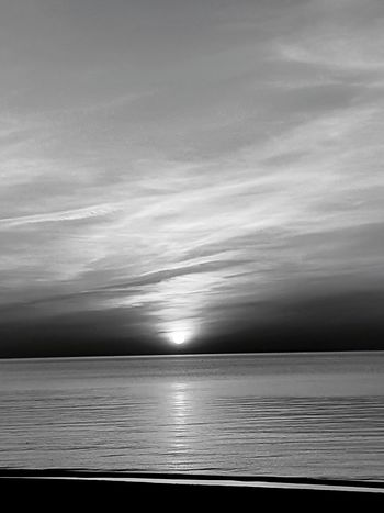 Black And White Sanset Sunset The San Rampage  Water Sea Sky Horizon Over Water