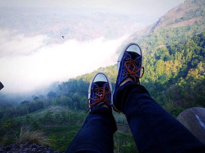 Naturelovers Green Color Green Nature Nature Shoeselfie Shoes Of The Day Bird Low Section Human Hand Selfie Mountain Human Leg RISK Shoe Personal Perspective Hiking Sky Canvas Shoe Hiker Footwear Things That Go Together Ground Human Foot Human Feet Wooden Floor Legs Crossed At Ankle Trousers Rushing Shoelace Windsurfing