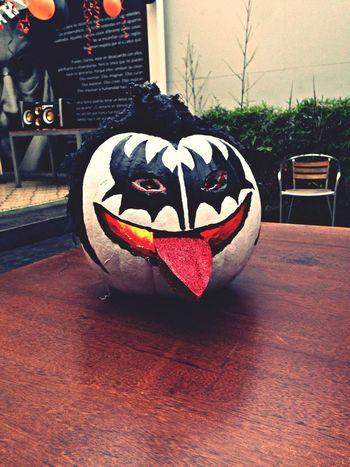 Happy Halloween Pumpkin Kiss Gene Simmons Rock'n'Roll