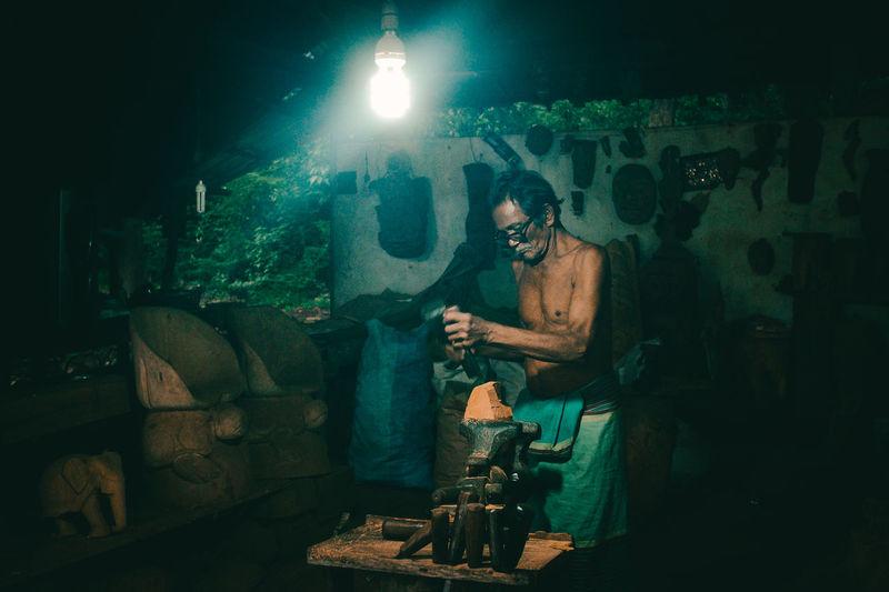 Artist Crafter Fuji X100t Fujifilm_xseries Man At Work Sri Lanka Travel Photography Woodshop Worker The Portraitist - 2017 EyeEm Awards