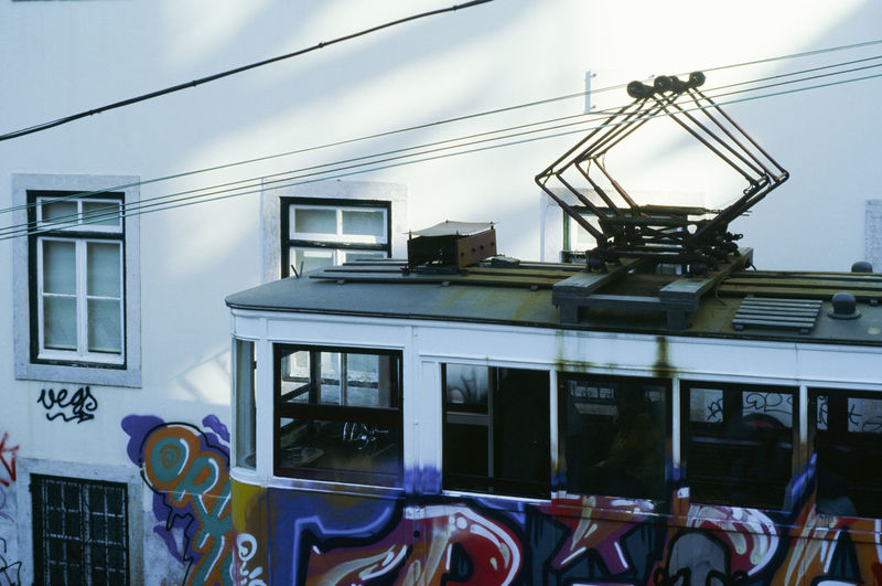 Train against sky