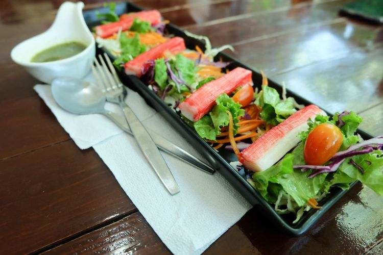 Crab salad with