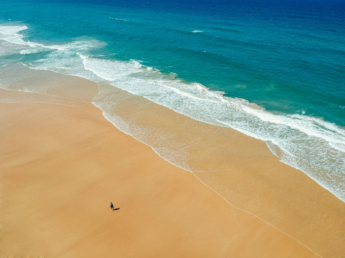 Gold Coast Australia Queensland Land Sea Water Beach Sand Beauty In Nature Scenics - Nature Wave High Angle View Tranquility Nature Day Motion Tranquil Scene Aquatic Sport Outdoors Waves