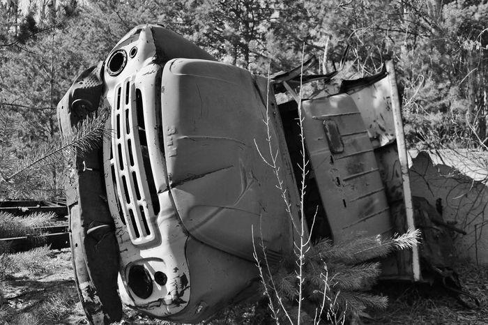 Ukraine Abandoned Damaged Day Destruction Lkw Nature No People Obsolete Outdoors Transportation Truck Tschernobyl Unfall
