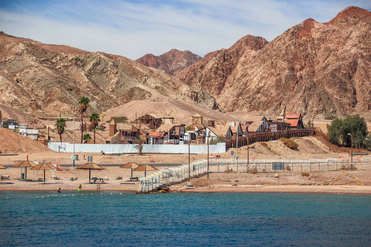 """Little Texas"" in Eilat on the Red Sea, Israel Beach Cinema City Coast Coastline Day Eilat Entertainment Israel Landscape Little Mountain Mountain Range Nature Non-urban Scene Range Red Scenics Sea Season  Texas Tourism Tower Traveling Water"