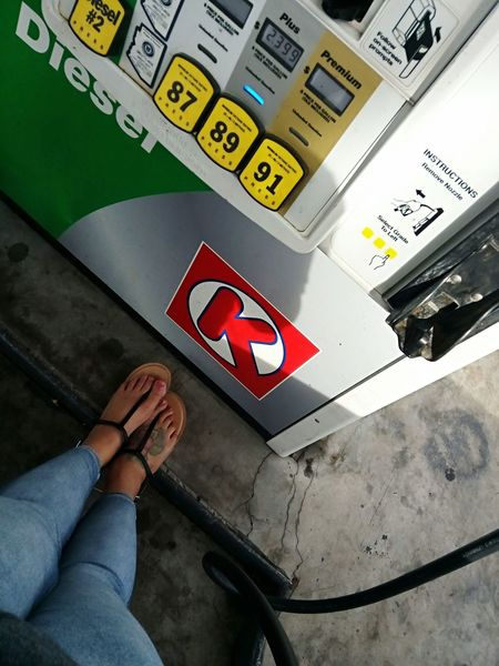 gas station Circle K Gas Station Pumping Gas Girl Outdoors Earth Arizona Gas Gas Pump Fill Up Cars Get Gas Pumps