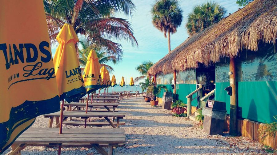 Oleary's Tiki Bar Sarasota FLTiki Bar Sit And Relax... Enjoying The View Thatch Roof Tikihut Fresh Air And Sunshine Umbrella Picnic Table Eat Drink And Be Merry Hanging Out Bayside Tiki Drink Day Time Fun Hanging Out Taking Photos Waterfront Bar Sightseeing