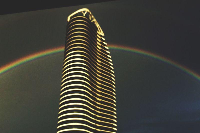 Rainbow Beautiful Rainbow  Dark Sky With Rainbow Rainbow Sky Rainbow Over Beach