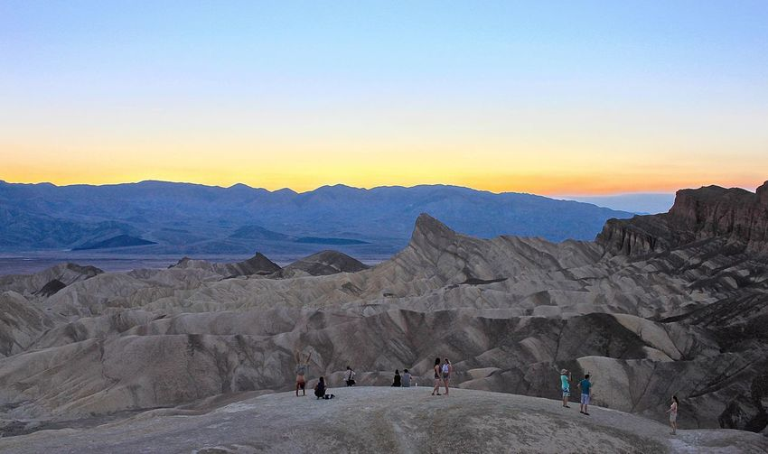 Silhouette Sunset Silhouettes People Watching Landscape_Collection Desert Beauty Deserts Around The World Landscape Nationalpark Desert Death Valley Zabriskie Point Furnace Creek The Great Outdoors With Adobe