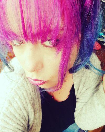 Frange Rose♥ Kisses❌⭕❌⭕ Dream JustMe Hair Hairstyle Rainbowhair Kiss Juste Moi ❤ Raimbow Color Rainbowhaircolors
