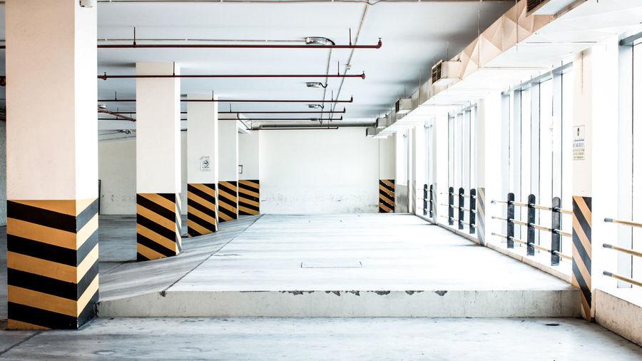 Lines, lines, lines Car Park Car Lot Prespectives Empty Spaces Bahrain Modern Workplace Culture