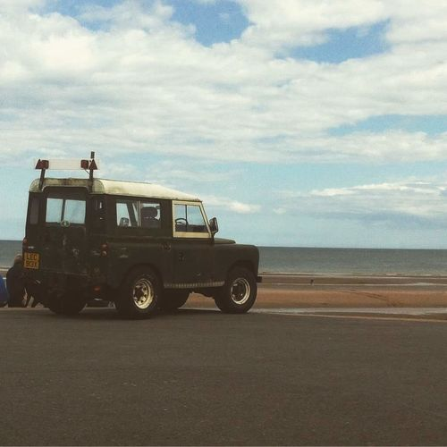 Mablethorpe England Car Old Sky Sea Beach Mablethorpe