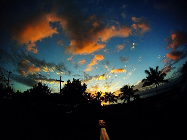 Sunset over Northshore on the island of Oahu