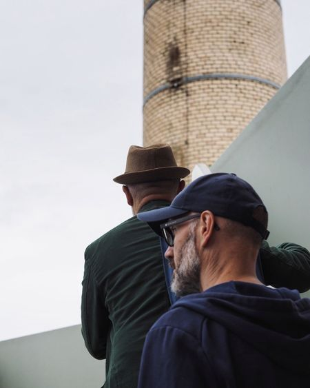 Hat Real People Young Adult Lifestyles Low Angle View Men Architecture Close-up Street Streetphotography Snap A Stranger
