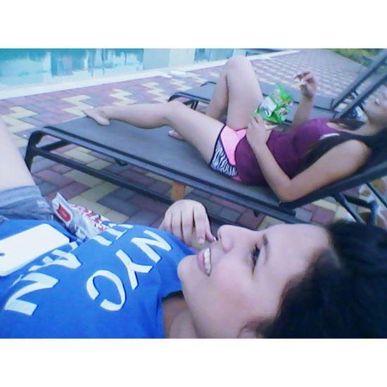 Relaxing Enjoying Life Hanging Out Friends♡♡ ♥.♥!