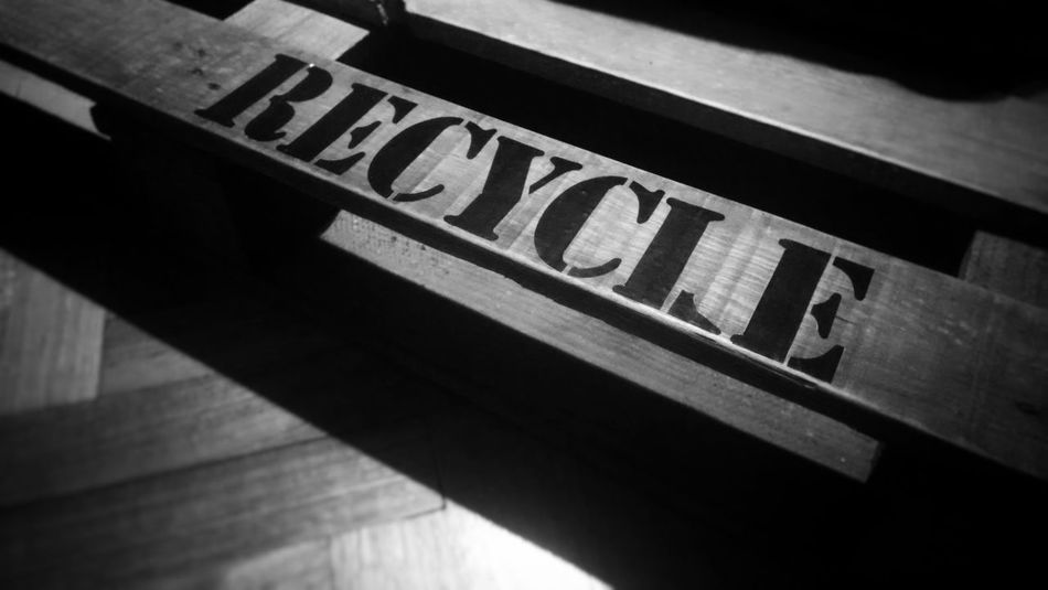 Recycle Bnw Palette Palet Recycle Safety No People Indoors  Close-up