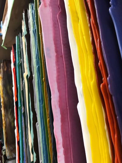 Full frame shot of multi colored fabric for sale