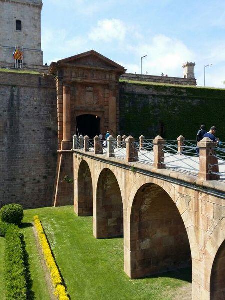Architecture Bridge Barcelona Castell De Montjuic