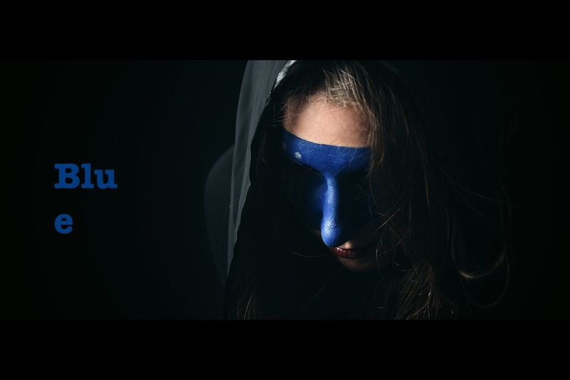 Blue Mask Paint Woman Face Artistic Photography Conceptual Photography  Capture The Moment Artistic Expression Artistic Photo EyeEm Best Shots Cinematic ExpressYourself Artistic Alone Night Song State Of Being Dreamscapes & Memories Eye4photography  Portrait Woman
