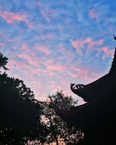 Sunset Landscape Beauty In Nature Cloud - Sky Outdoors Pagoda Newmoon Nature No People Huawei P9 Leica Beauty In Nature HuaweiP9