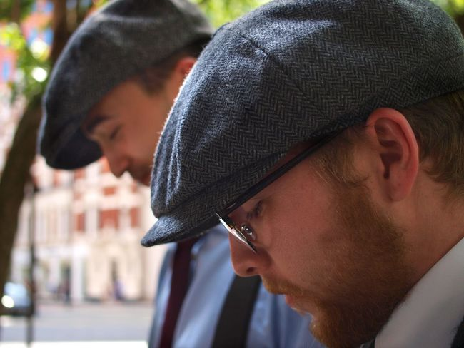 1930's in 2018. Central London. 02/06/2018 Flat Cap Hats Cloth Caps Retro Styled Retro 1930 Fashion Peaky Blinders Fashionable Smart London News Stevesevilempire Steve Merrick Olympus Zuiko Fashion Headshot Men Portrait One Person Real People Close-up Focus On Foreground Young Men Young Adult Side View Males  Hat Lifestyles Beard