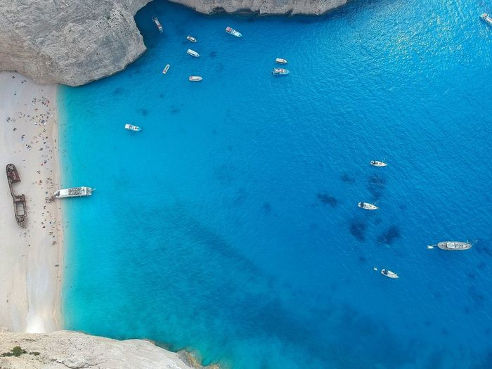 Navagio EyeEm Selects Drone  Dji Phantom Summer Dji Dronephotography Aerial Shot Water Sea Beach Nautical Vessel Blue Yacht Aerial View Sailing Ship Sand Close-up Turquoise Colored Yachting Seascape