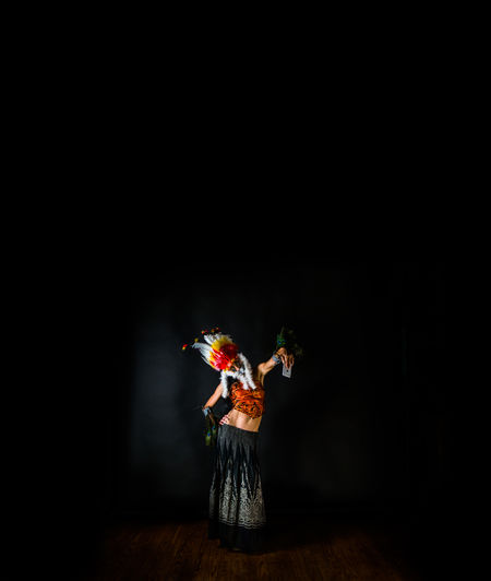 Cellphone The Creative - 2018 EyeEm Awards Arts Culture And Entertainment Black Background Costume Full Length One Person Performance Performing Arts Event Portrait Stage - Performance Space