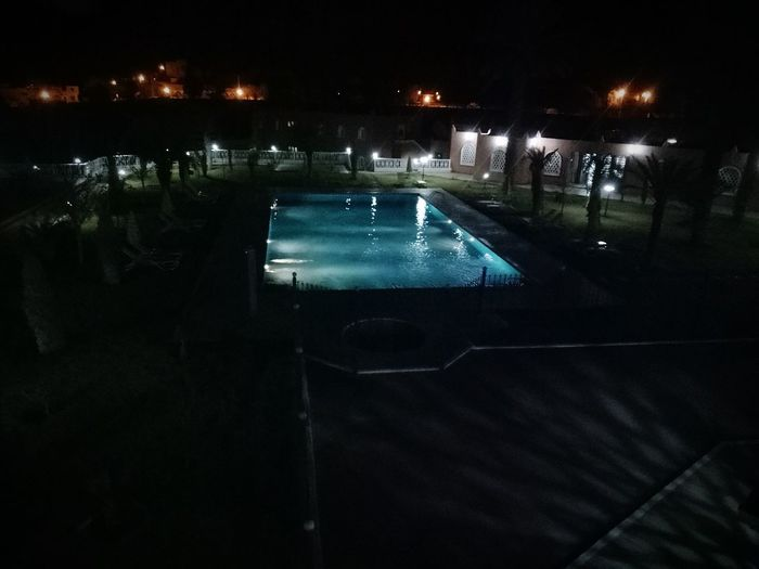 pool Swimming Pool Hotel Taghit Night Nightphotography AmineTREVOR Night Illuminated Water Outdoors No People Ice Hockey