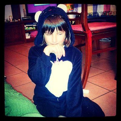 Prove Per Halloween Silvia sorellina costume gatto nero ?