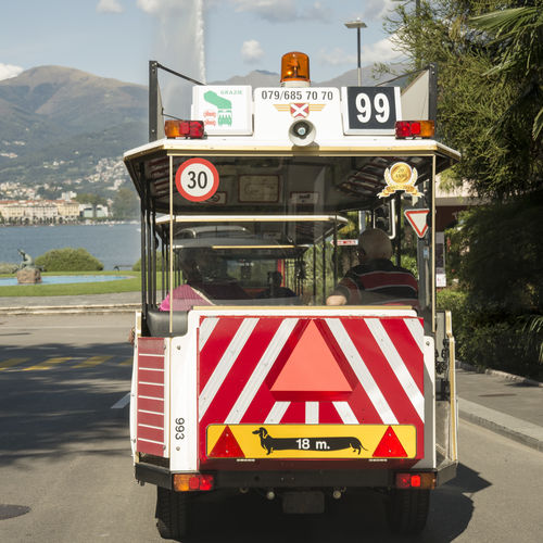 Road Tourist Attraction  Tram Transportation Long Vehicle Number Numbers Plate Tourism 99