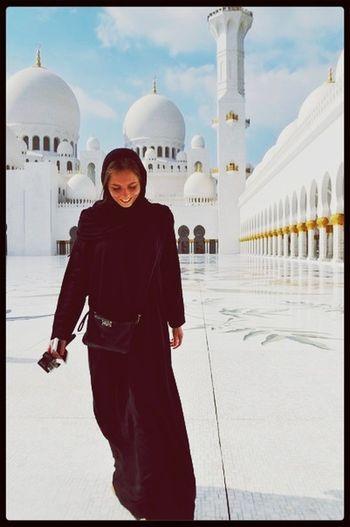Arabic Abudhabi East Girl Sheik Mosque Religion
