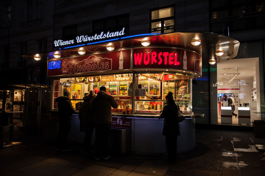 wurstel vs kebab...winter in Vienna. Vienna Traveling Travel Storytelling Streetphotography Austria Kebab Würstel Streetfood Winter Shades Of Winter Shadesofwinter Store Night Illuminated Building Exterior Large Group Of People Nightlife People City Outdoors Real People Neon Architecture Text The Traveler - 2018 EyeEm Awards The Street Photographer - 2018 EyeEm Awards