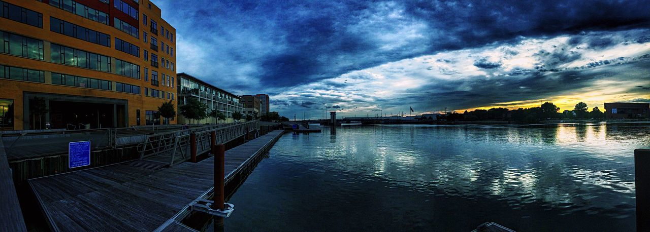 Green Bay  Wisconsin Downtown Green Bay Sky And Clouds Sunset Enjoying Life Urbanscape Fox River Urbanphotography Urban Lifestyle Waterfront Water Urban Landscape Wisconsin Life Panoramic Photography Panorama Reflection Dramatic Sky Moody Sky Draw Bridge