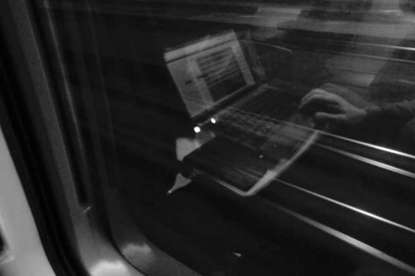 Freelance Life Traveling Fast Working Faster Sony Vaio VAIO Sony XperiaZ3 Train Italo Blackandwhite Black And White Black & White Black&white Railway