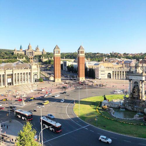 Plaza De España Barcelona Architecture Clear Sky City
