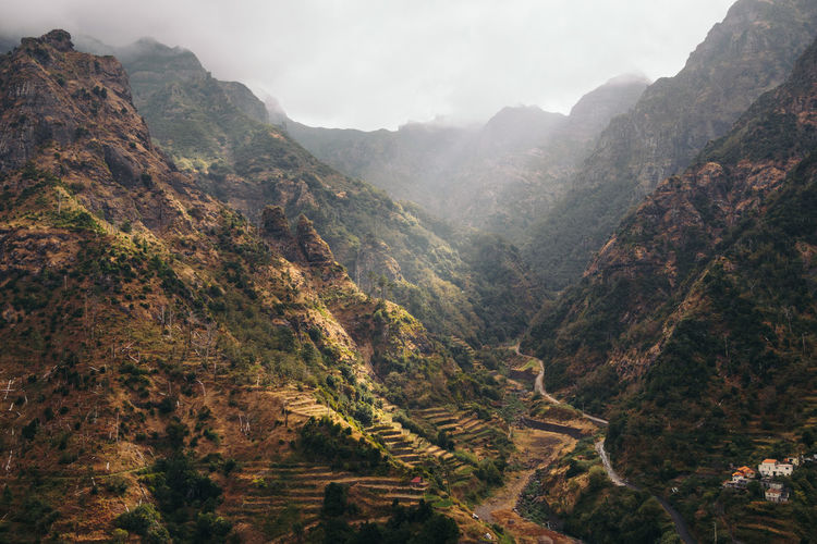 Madeira Portugal Beauty In Nature Day Fog Landscape Mountain Mountain Range Nature No People Outdoors Scenics Sky Tranquil Scene Tranquility