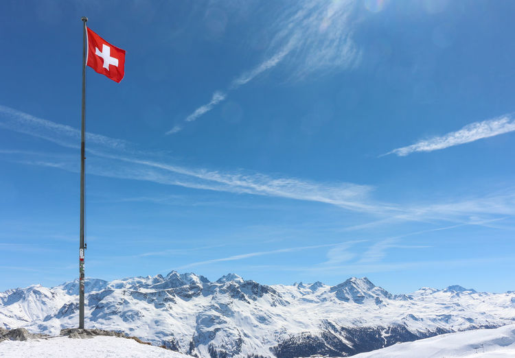Switzerland Flag Switzerland Alps Destop Blue Sky Mountain Mountains Alps Alpen Swiss Alps Engadin Engadine Switzerland St. Moritz Corviglia Snow Beauty In Nature Scenics - Nature Sky Winter Cold Temperature Tranquil Scene Nature Mountain Range Tranquility Environment Day Cloud - Sky Non-urban Scene Snowcapped Mountain No People Red Outdoors Mountain Peak Cliche Celerina