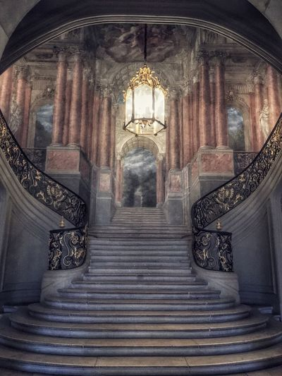 Indoors  Low Angle View Steps No People Built Structure Architecture Steps And Staircases Place Of Worship Staircase Day