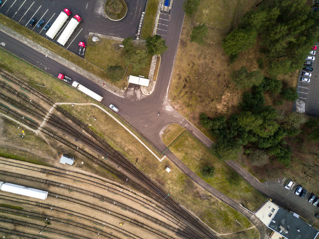 Large logistics / transport center - railway, road, trucks, cargo, freight, economy / aerial view from DJI drone Aerial View Business Cargo City Dji DJI Mavic Pro Economy Eurozone Goods Growth High Angle View Industry Infrastructure Land Vehicle Load Logistics Railroad Railway Road Sell Transport Transportation Transportation Trucks Urban