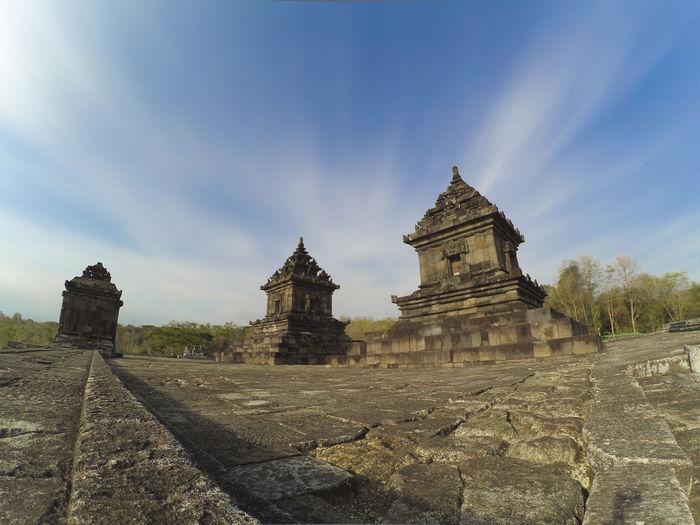 Historical building against blue sky
