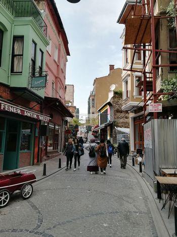 Konstantinapolis Istanbul Turkey Balat City Road City Life Street City Street Store Cityscape Architecture Building Exterior Sky