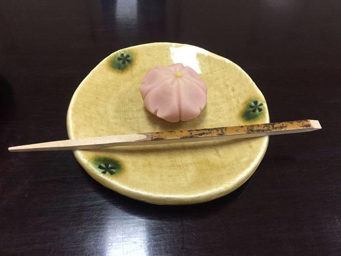梅の里 Food And Drink Japanese Sweet Plate Frozen Food Refreshment Pink Color Table