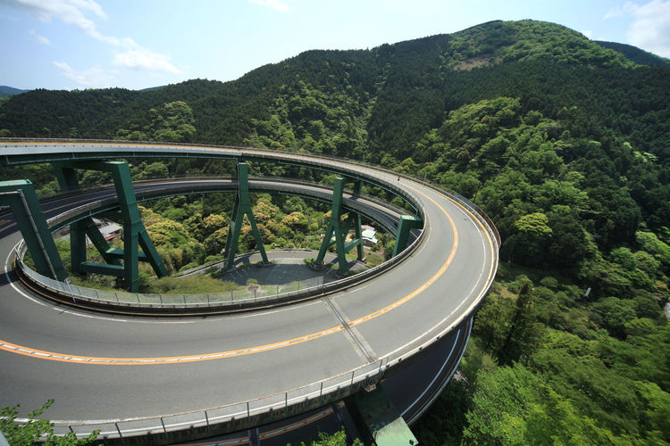 landscape japan shizuoka izu Tree Mountain Plant Transportation Green Color Nature Beauty In Nature Day Scenics - Nature Mode Of Transportation No People Sky High Angle View Road Growth Outdoors Water Travel Non-urban Scene Curve